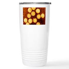 Coloured TEM of Papilloma virus Travel Mug
