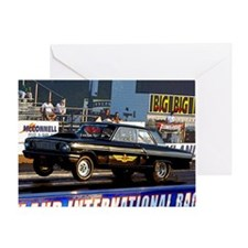 Black FOrd Thunderbolt Greeting Card