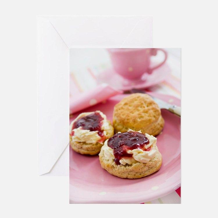 Cream tea Greeting Card