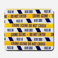 Crime scene tape Mousepad