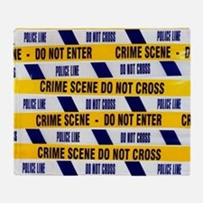 Crime scene tape Throw Blanket