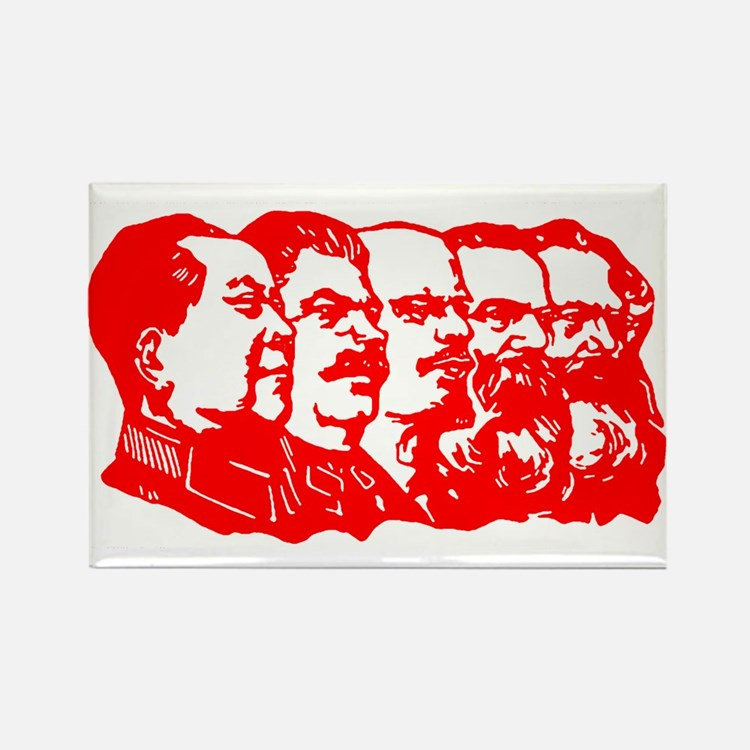 Mao,Stalin,Lenin,Engels,Marx Rectangle Magnet (10