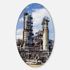Pipestills at an oil refinery Decal