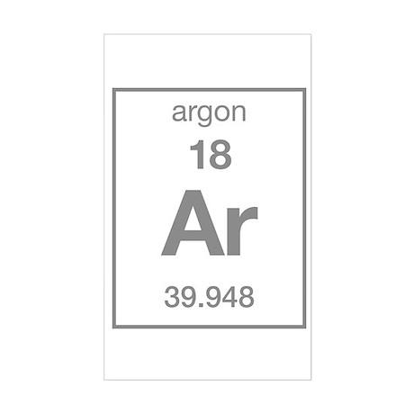 Argon Rectangle Sticker