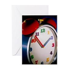 Colourful alarm clock Greeting Card