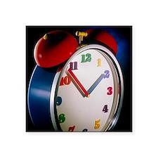"""Colourful alarm clock Square Sticker 3"""" x 3"""""""