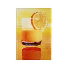 Computer art of glass of orange j Rectangle Magnet
