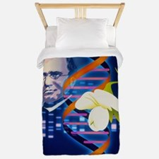 Computer artwork of the botanist Gregor Twin Duvet