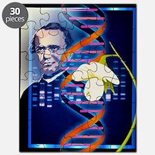 Computer artwork of the botanist Gregor Men Puzzle