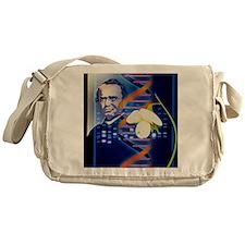 Computer artwork of the botanist Gre Messenger Bag