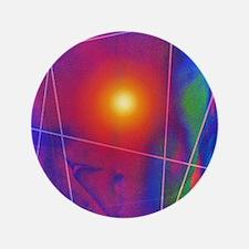 "Computer artwork depicting stomach pai 3.5"" Button"