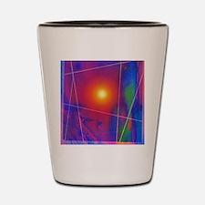 Computer artwork depicting stomach pain Shot Glass