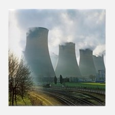 Power station cooling towers Tile Coaster