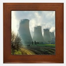 Power station cooling towers Framed Tile