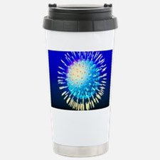 Computer graphic of a Herpes si Travel Mug