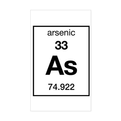 Arsenic Rectangle Sticker
