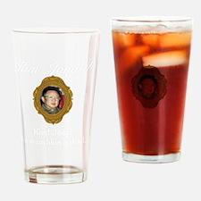 Kim Jong-il White Drinking Glass