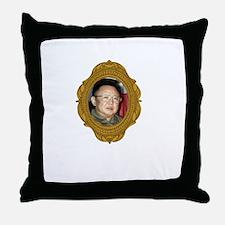Kim Jong-il White Throw Pillow