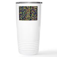 Computer screen showing a human Travel Mug
