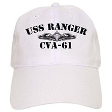uss ranger cva black letters Hat