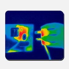 Plug and socket, thermogram Mousepad