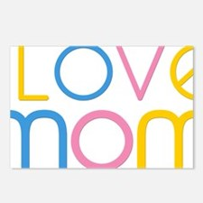 I love Mom Postcards (Package of 8)