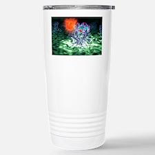 Quantum dot probe, artwork Travel Mug