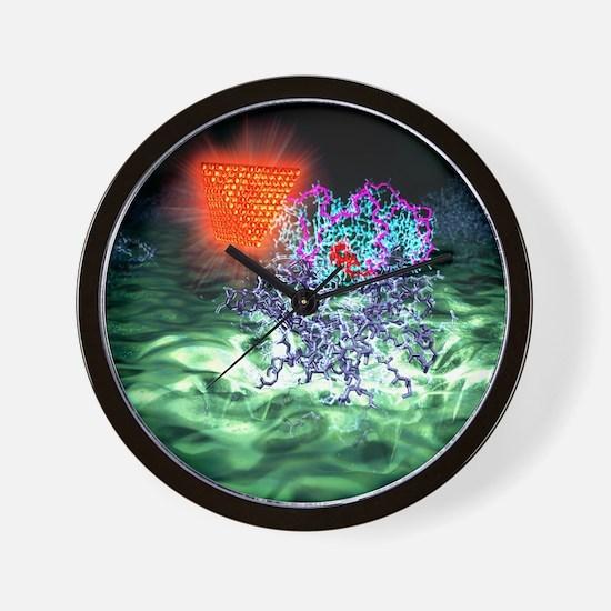 Quantum dot probe, artwork Wall Clock