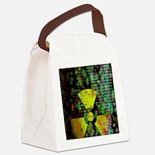Radiation hazard Canvas Lunch Bag