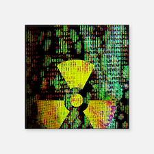 """Radiation hazard Square Sticker 3"""" x 3"""""""