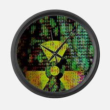 Radiation hazard Large Wall Clock