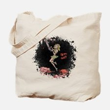 Crazy Chainsaw Girl Tote Bag