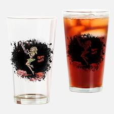 Crazy Chainsaw Girl Drinking Glass