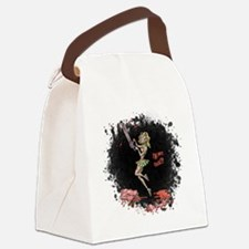 Crazy Chainsaw Girl Canvas Lunch Bag