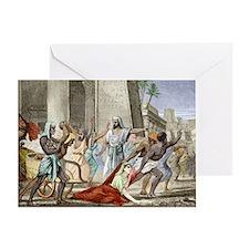 Death of Hypatia in Alexandria Greeting Card