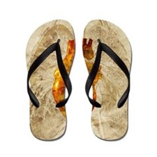 Diseased heart Flip Flops