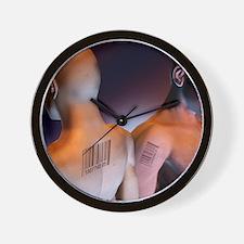 Criminal tagging Wall Clock