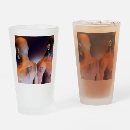 Criminal tagging Drinking Glass