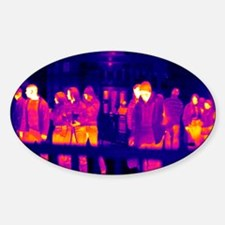 Crowds, UK, thermogram Decal