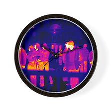 Crowds, UK, thermogram Wall Clock