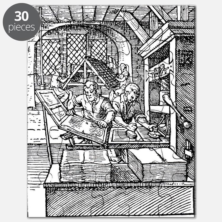 Printing press, 16th century Puzzle