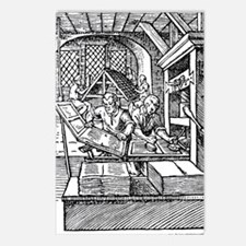 Printing press, 16th cent Postcards (Package of 8)