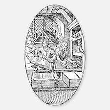 Printing press, 16th century Decal