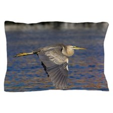 Purple heron Pillow Case