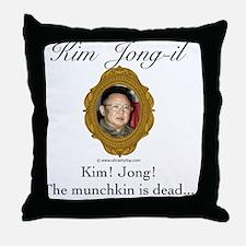 Kim Jong-il Throw Pillow