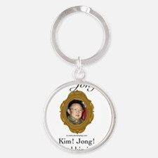 Kim Jong-il Round Keychain