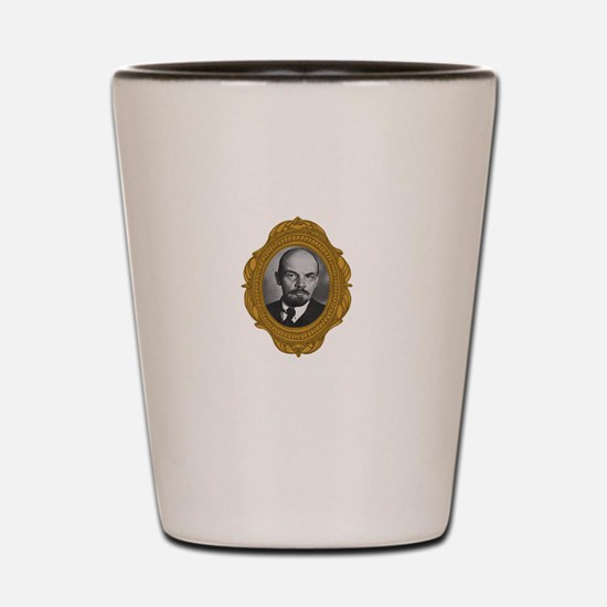 Vladimir Lenin White Shot Glass