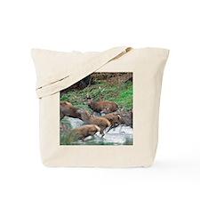 Red deer herd Tote Bag