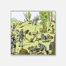 "Diviners finding minerals Square Sticker 3"" x 3"""