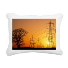 Pylons and power lines a Rectangular Canvas Pillow